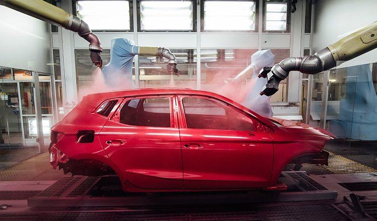 Autofarbe in der Produktion