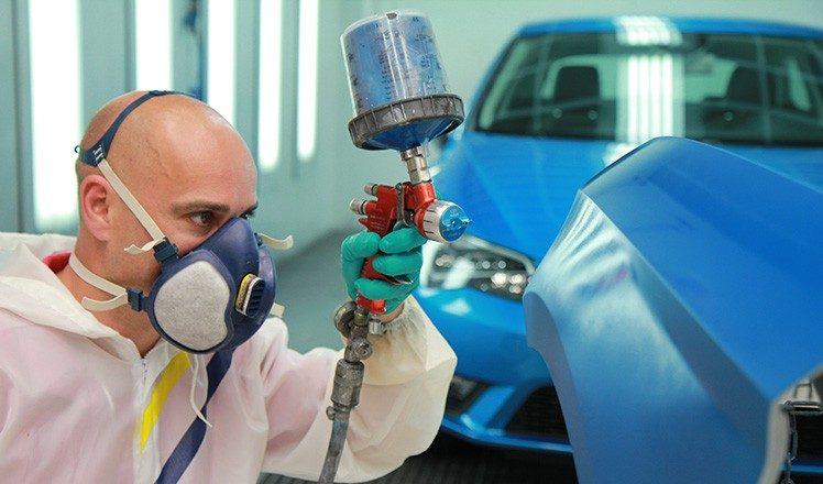 Autofarbe Blau